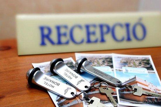 Hotel Bonaire: Recepcion