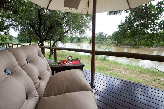 Naledi Bushcamp and Enkoveni Camp: View from the River rooms (Fish eagle and Fishing owl)