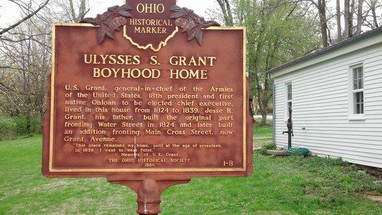 Grant Boyhood Home: Grant info