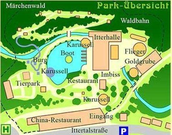 Solingen, Alemanha: Karte des Parks