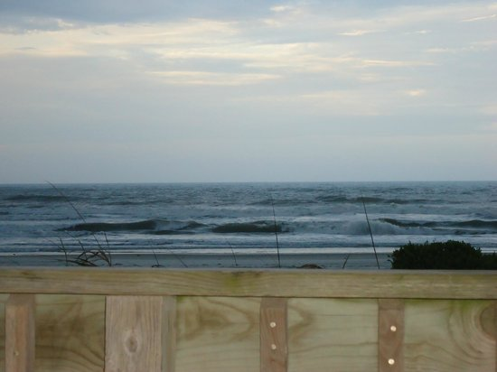 Anthony's On The Beach: View fom the deck right outside of the room