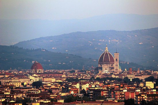 Hilton Florence Metropole: City of Florence from Patio