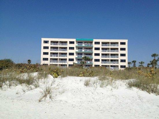Sand Pebble Resort from beach