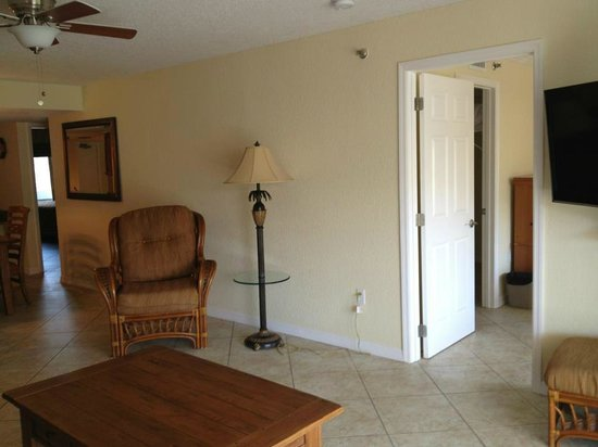 Sand Pebble Resort: Unit #101 door to master bedroom off of living room in unit #101