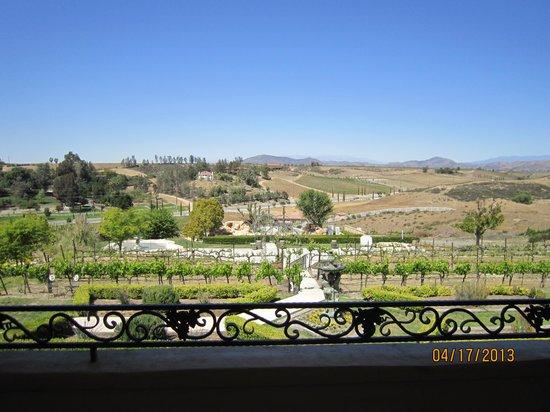 Inn at Churon Winery: view from balcony