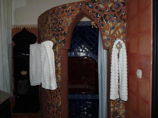 Riad Harmonie Maison d'hotes : La doccia con vasca da bagno