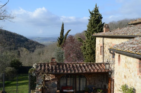 Podere Cogno: View from the stairs to the apartment