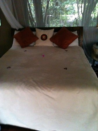 Sanctuary Olonana: My Bed with Flower Petals