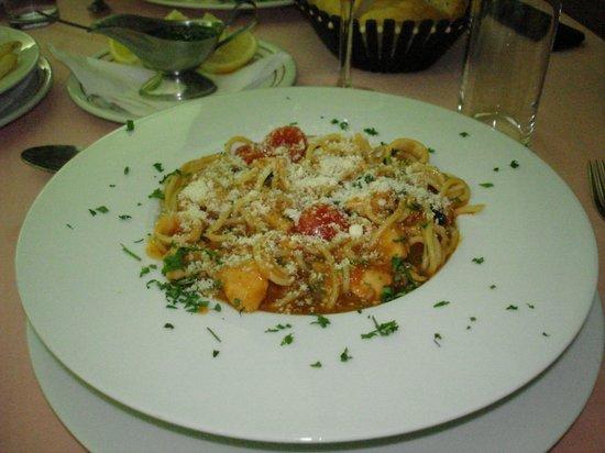 Bastion: seafood pasta