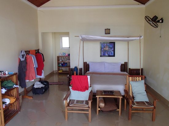 """Bamboo Cottages & Restaurant: Blick in ein """"seaview cottage"""""""