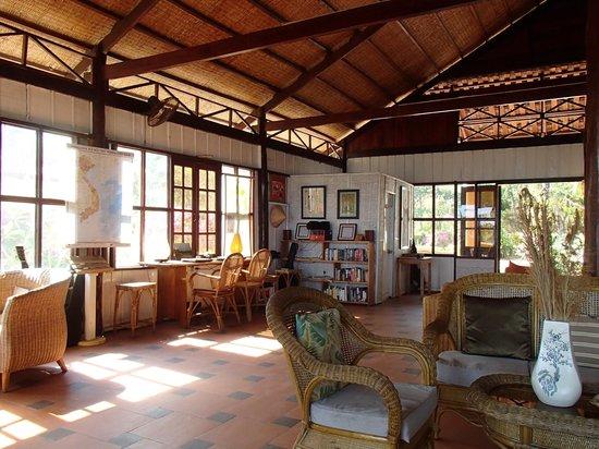Bamboo Cottages & Restaurant: Rezeptionsbereich