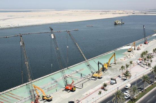 Hyatt Regency Dubai: Lärmige Sandaufschüttung fast rund um die Uhr