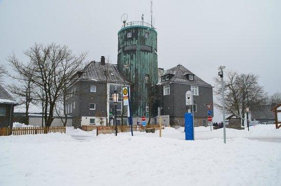 Berggasthof Kahler Asten: In de sneeuw