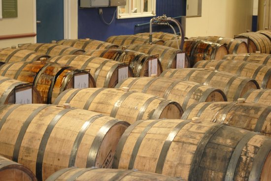 Samuel Adams Brewery : Barrels in use