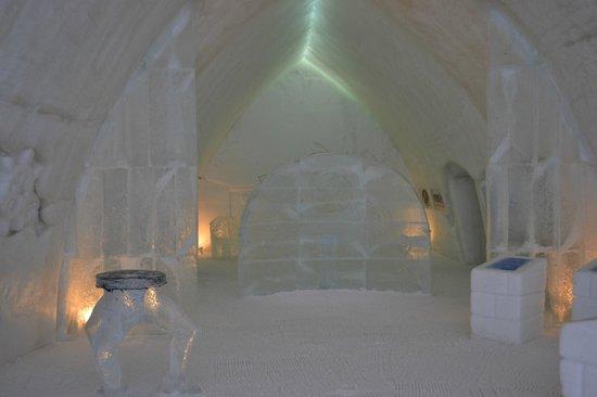 Hotel de Glace: Una sala de estar