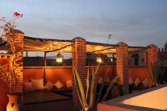 Riad Magellan Yoga: la terrasse sur le toit du riad