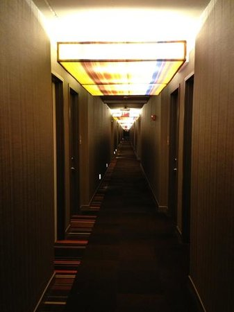 Aloft Lexington: even the hallway is cool