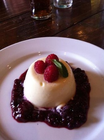 The Berney Arms: pannecotta with fruit compote mmmmm!