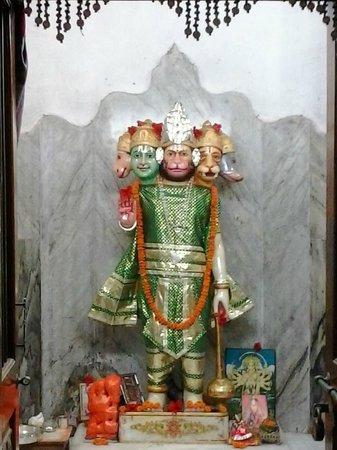 Ram Mandir, Bhubaneswar: panchmukhi Hanuman at ram mandir