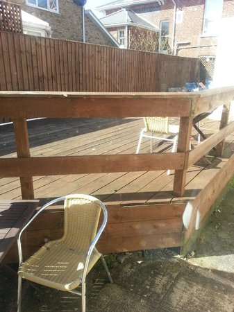 Channel View Hotel: DECKING AREA