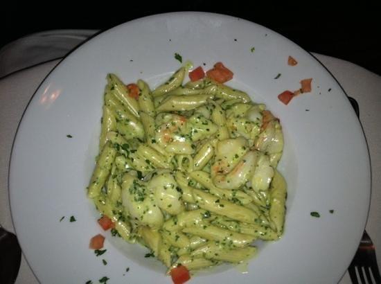 Cherubina Ristorante: Penne Pesto with Shrimp