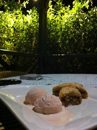 Feathers Home Stay: Desert home made roswater icecream WOW