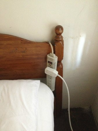 Capistrano Seaside Inn: unsafe wiring everywhere