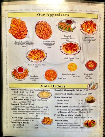 Menu page 4 picture of morrette 39 s king steak house for King s fish house menu