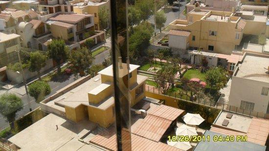 El Cabildo : Vista do bairro de dentro do elevador panorâmico