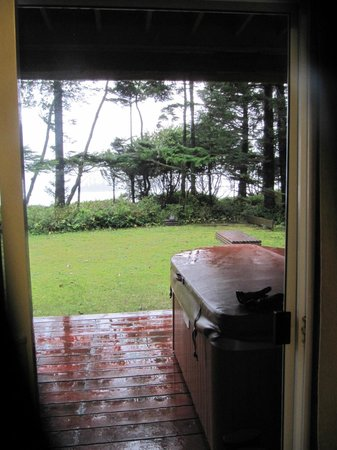 Beach Break Lodge: view from the back door