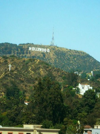Loews Hollywood Hotel: View of the Hollywood sign from the hotel