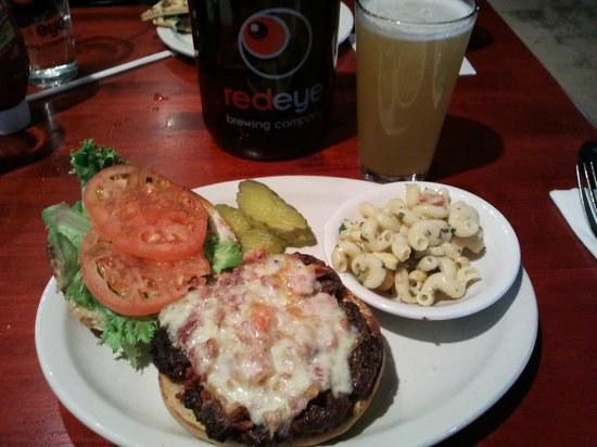 Red Eye Brewing Company: Burger done perfect and great beer