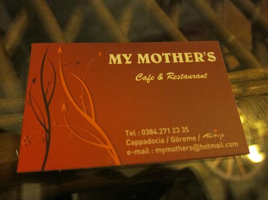 My Mother's, the best Turkish in Cappadocia - Picture of My