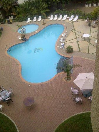 Hotel Brisas del Norte : vista a la piscina desde la habitacion