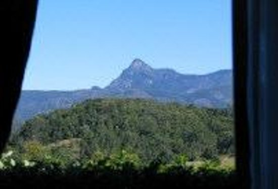 Hillcrest Retreat: view to Mount Warning from Cottage bedroom