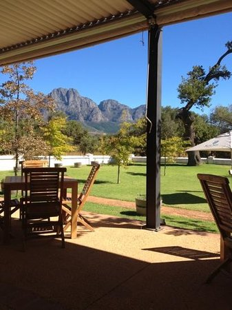 Fyndraai restaurant at Solms-Delta: Beautiful setting