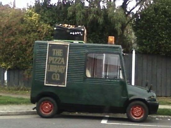 The Pizza Library: Distinctive delivery vehicle