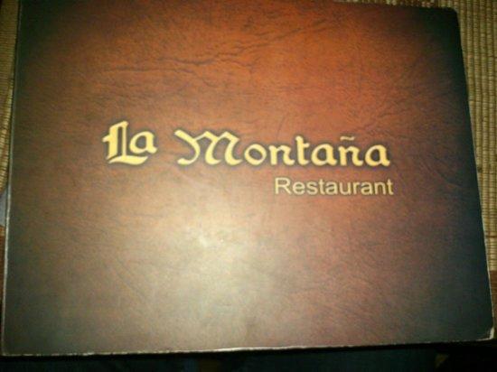 La Montana: menu