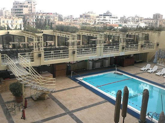 Le Meridien Heliopolis : The pool view from my room