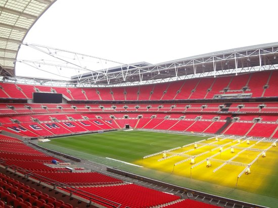 stadium view picture of wembley stadium wembley. Black Bedroom Furniture Sets. Home Design Ideas