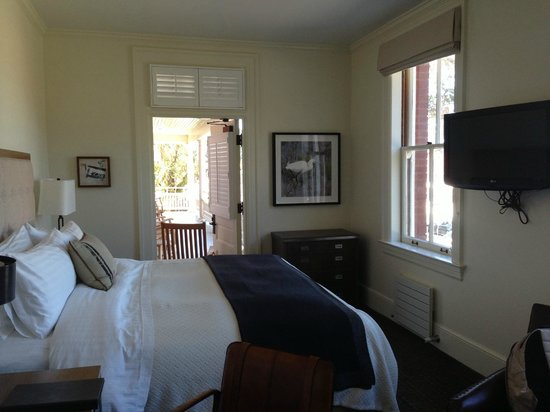 Inn at the Presidio: King room on 2nd floor.