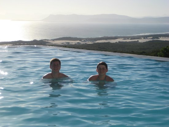 Grootbos Private Nature Reserve: Enjoying themselves in the pool
