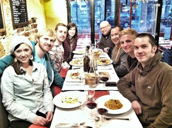 Alfio: Our group with their meals