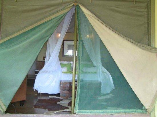 White Elephant Safari Lodge: la chambre bien équipée de moustiquaires