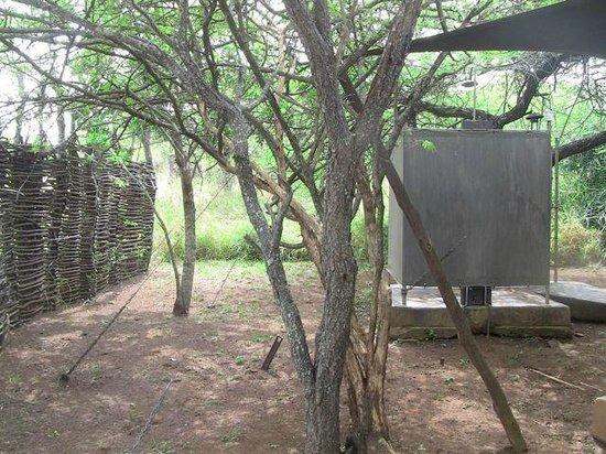 White Elephant Safari Lodge: la douche extérieure