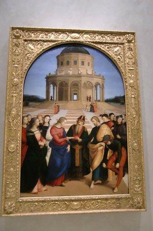 """Pinacoteca di Brera : RAFFAELLO """"Lo Sposalizio della Vergine"""""""