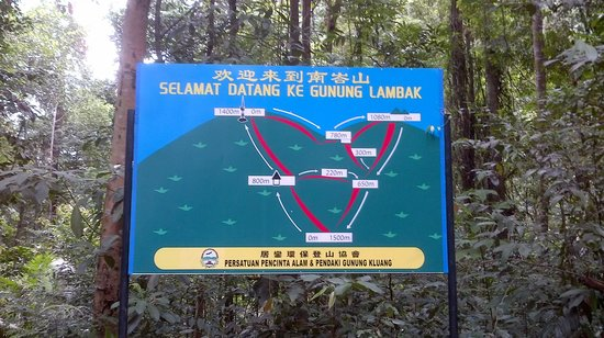 Clearly Marked Directions Picture Of Gunung Lambak Kluang Tripadvisor