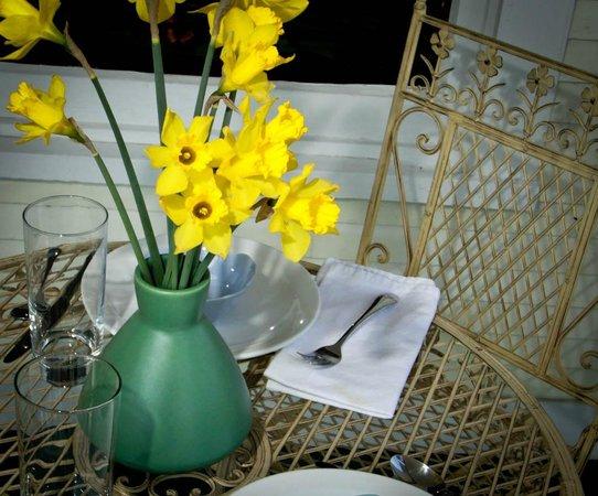 Three Oaks Inn: Outdoor dining