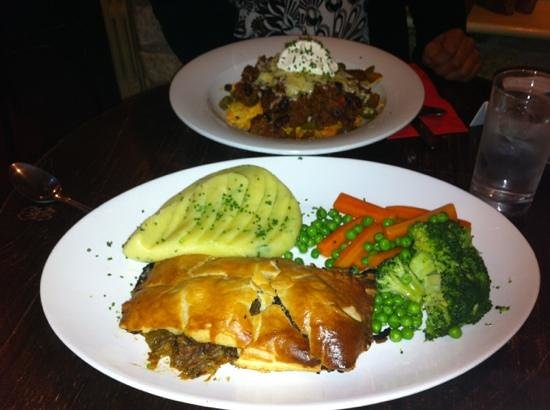 The Talbot Inn: steak and ale pie a definite must try
