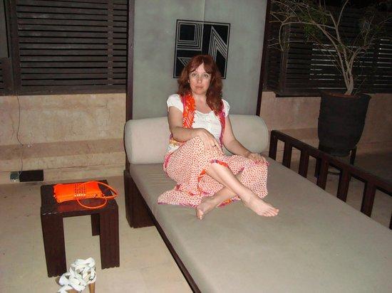 Villa Makassar: En la terraza-solarium